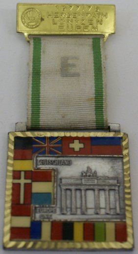 Enamelled 1977-78 European Union Medal With The