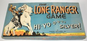 1938 The Lone Ranger Hi-yo Silver Board Game By Parker