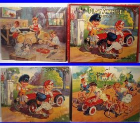 1930's Play Awhile Puzzle Set Series #2 By All-fair