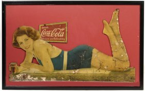 1932 COCA-COLA CARDBOARD CUTOUT SIGN OF MOVIE STAR