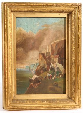 """19TH CENTURY OIL PAINTING ON PANEL SIGNED """"ROSS"""""""