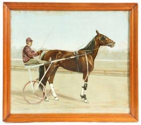 ALEXANDER POPE RACING HORSE CHROMOLITHOGRAPH