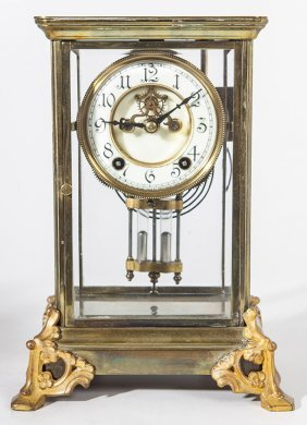 New Haven Crystal Regulator Clock