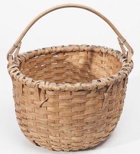 Split Ash Woven Gathering Basket