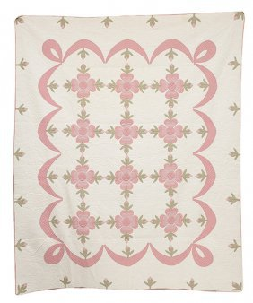 Applique Lancaster Rose Quilt