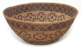 Large California Polychrome Tulare Basket
