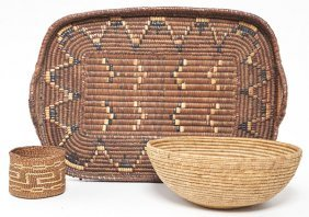 Three American Indian Baskets
