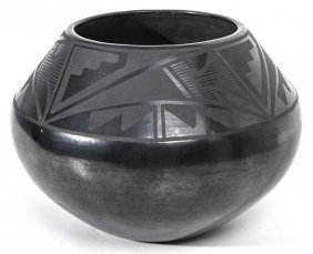 Maria & Julian Martinez Blackware Jar