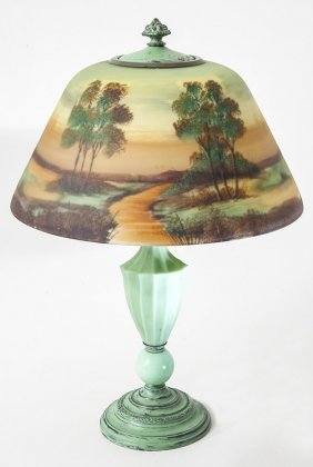 Jefferson Reverse Painted Lamp