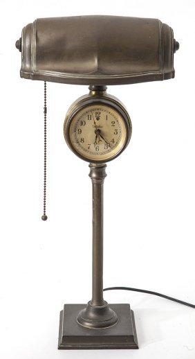 Telechron Clock Desk Lamp