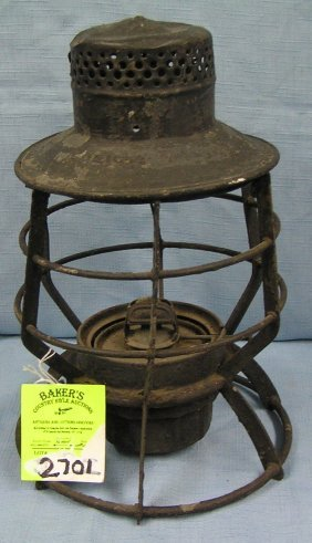 Antique Police Department Lantern By Dressel