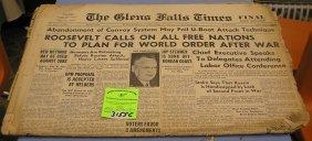 The Glens Falls Times Wwii Era Newspaper