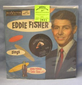 Early Eddie Fisher Record Album: Coca Cola Time On Tv