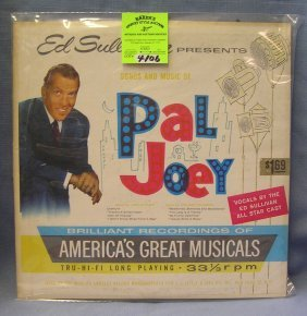 Vintage Ed Sullivan Songs And Music Of Pal Joey Record