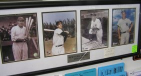 The Ny Yankees Dynasty Photographic Matted Wall Collage