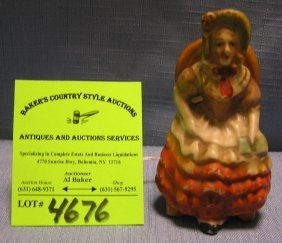 Victorian Woman In Chair Figure, Occupied Japan