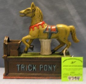 Trick Pony Mechanical Bank