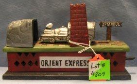 Orient Express Train Mechanical Bank
