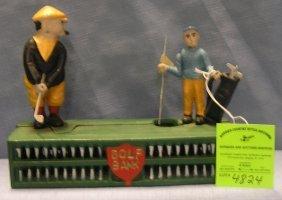 Golfer Mechanical Bank