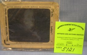 Antique Benjamin Franklin Glass Magic Lantern Slide