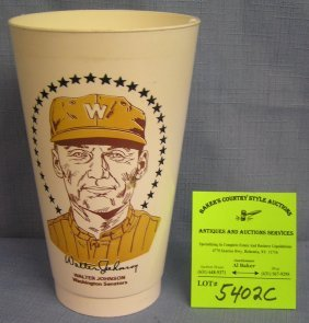 Vintage Walter Johnson Washington Senators Sports Cup