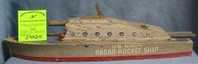 Early Us Navy Radar Rocket Ship Wooden Boat