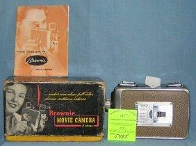 Vintage Kodak Brownie Movie Camera With Box