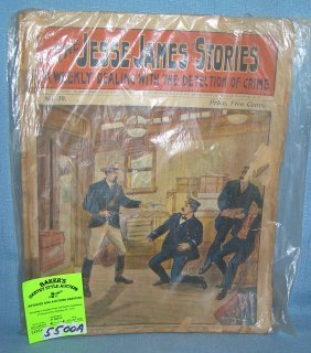Antique Jesse James Story Book Dated 1902