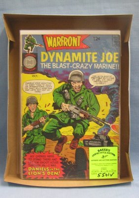 Group Of Vintage Military Themed Comic Books