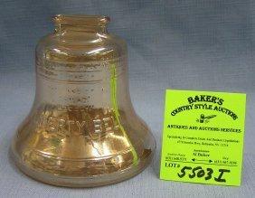 Vintage Carnival Glass Liberty Bell Bank