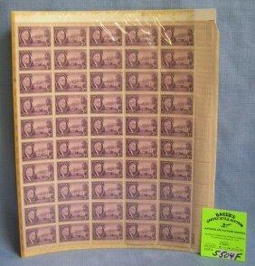 Block Of Vintage Us Postage Stamps