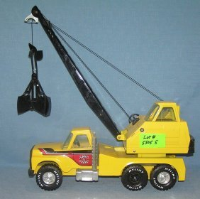 Vintage Nylint Sand And Gravel Crane Truck