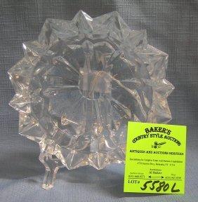 Vintage Heavy Crystal Ashtray
