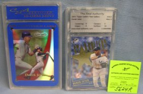 Pair Of High Quality Graded Derek Jeter Baseball Cards