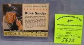 Vintage Duke Snyder Baseball Card