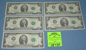 Mint Us $2.00 Bills In Sequencetial Order
