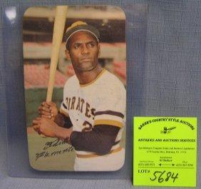 Vintage Topps Oversized Roberto Clemente Baseball Card