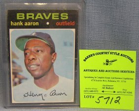 Vintage Hank Aaron Baseball Card