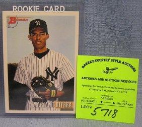 Vintage Mariano Rivera Rookie Baseball Card