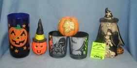 Vint. & Mod. Porcelain & Glass Halloween Decorations