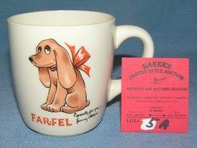 Artist Signed Farfel The Dog Coffee Mug