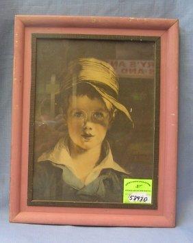 Early Farm Boy Framed Print