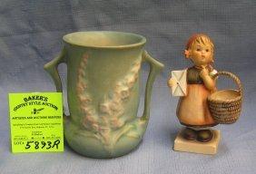 Rosenthal Handled Vase And Hummel Girl Figurine