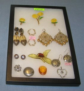 Quality Costume Jewelry Pins, Earrings And More