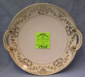 Early Gold Decorated Noritake Hand Painted Platter