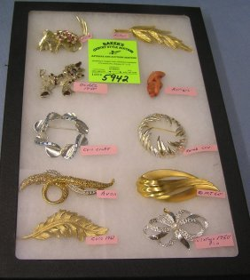 Collection Of Signed Vintage Pins