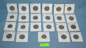Collection Of Vintage Jefferson Nickels