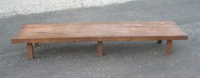 Mid Century Modern Full Size Slotted Coffee Table