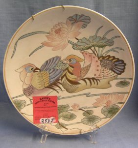Vintage Bird Decorated Hand Painted Collector Plate