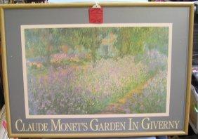 Claude Monet Garden In Giverny Framed Print